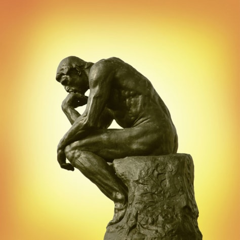"Image: ""The Thinker"" by Rodin"